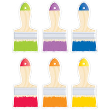 "Painted Palette Paintbrushes 6"" Designer Cut-Outs"