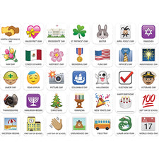 Emoji Fun Holidays and Special Events Calendar Cover-Ups