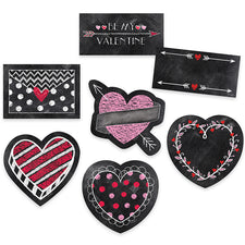 "Chalk Hearts 6"" Designer Cut Outs"