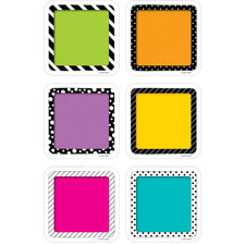 "Bold & Bright Colorful Cards 3"" Designer Cut-Outs"