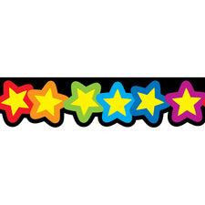 Rainbow Of Stars Bulletin Board Border