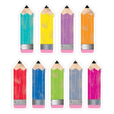"Upcycle Style Pencils 6"" Designer Cut-Outs"