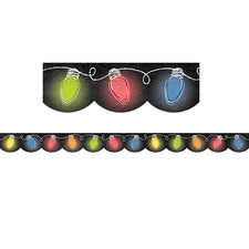Holiday Lights in Chalk Bulletin Board Border