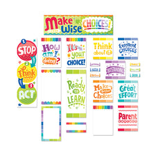 Painted Palette Behavior Clip Chart Mini Bulletin Board Set