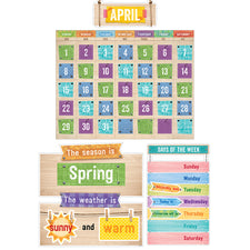 Upcycle Style Calendar Bulletin Board Set