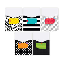 Bold & Bright Library Pockets, Extra-Large