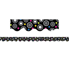 BW Collection Polka Dot Party Bulletin Board Border