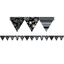 BW Collection Pennant Bulletin Board Border