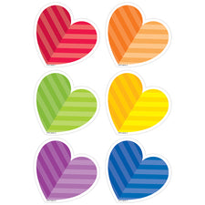 "Rainbow Hearts 3"" Designer Cut-Outs"