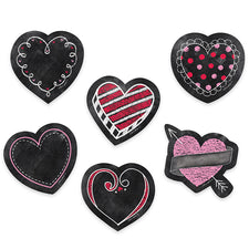 "Chalk It Up! Chalk Hearts 3"" Designer Cut-Outs"
