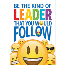 Be the kind of leader… Emoji Fun Inspire U Poster