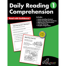 Daily Reading Comprehension Workbook, Grade 1