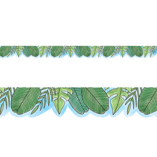 Safari Friends Jumbo Leaves Bulletin Board Border