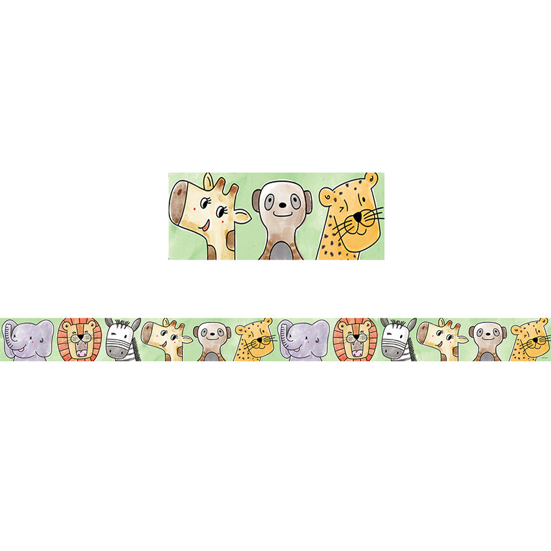 Safari Friends Bulletin Board Border