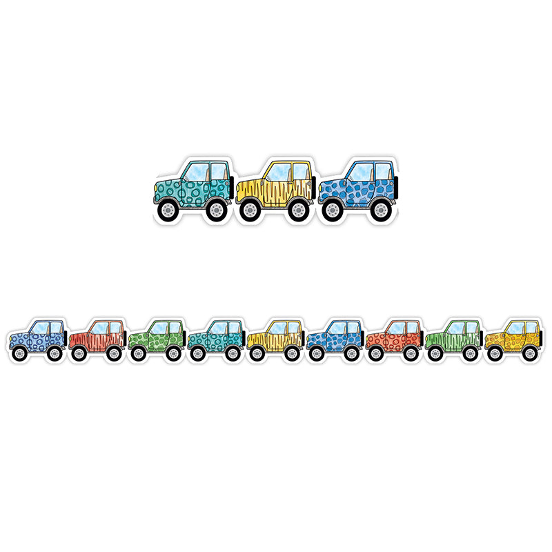 Safari Friends Off-Road Vehicles Bulletin Board Border