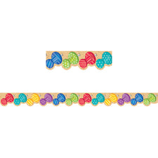 Bold & Bright Push Pins Bulletin Board Border