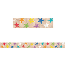 Upcycle Style Rustic Stars Bulletin Board Border