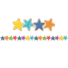 Upcycle Style Stars Bulletin Board Border