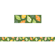 Woodland Friends Autumn Leaves Bulletin Board Border