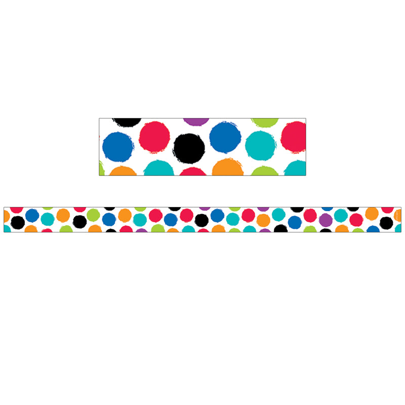 Bold & Bright Colorful Spots Magnetic Décor Strips-Small