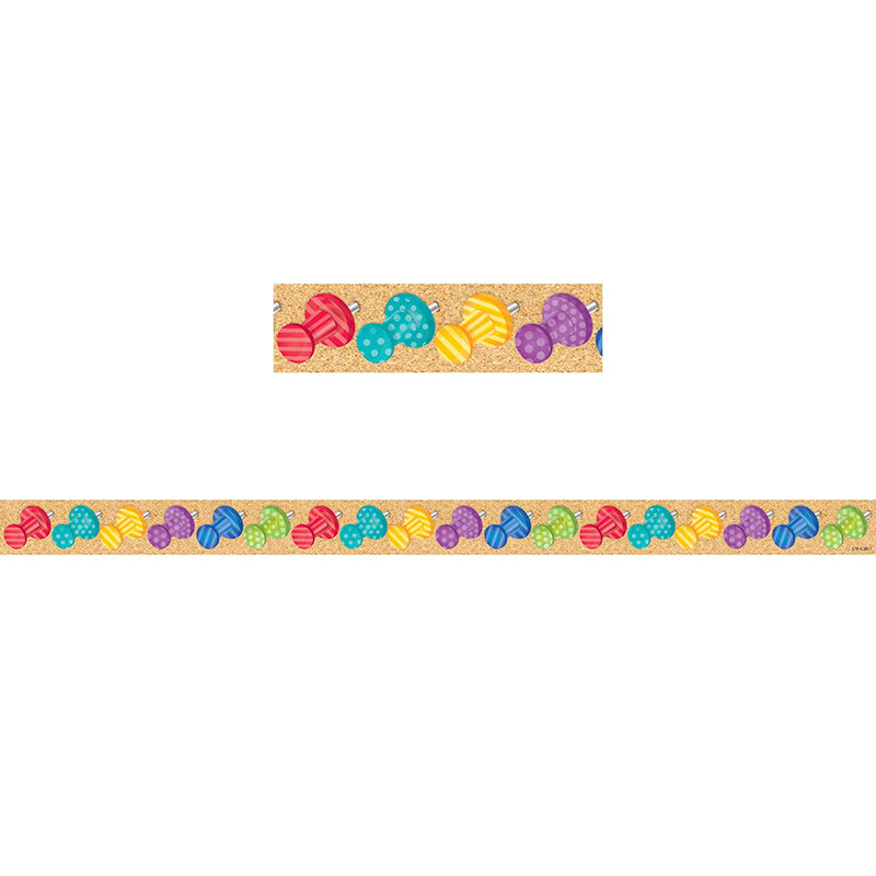 Bold & Bright Push Pins Magnetic Décor Strips-Small