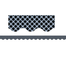 Black Gingham Bulletin Board Border