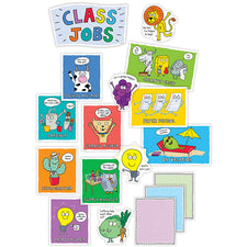 So Much Pun! Class Jobs Mini Bulletin Board Set