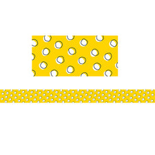 Doodle Dots on Yellow Bulletin Board Border