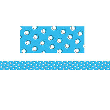 Doodle Dots on Blue Bulletin Board Border