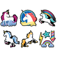 "Unicorns 6"" Designer Cut-Outs"