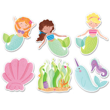 "Mermaid Fun 6"" Designer Cut-Outs"