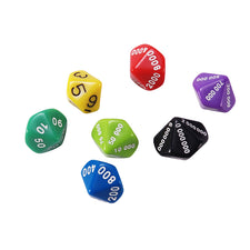 Place Value Dice: Assortment, Set of 7