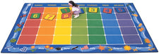 "Classroom Calendar Rug, 7'6"" x 12' Rectangle"
