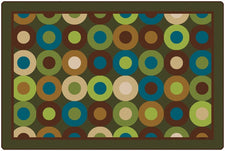Calming Circles Classroom Rug, 8' x 12' Rectangle