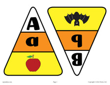 Candy Corn Alphabet Matching Game - Printable