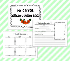 Spring Science - Carrot Top Experiment with Free Journal Printables!