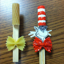 The Cat in the Hat Clothespin Craft!