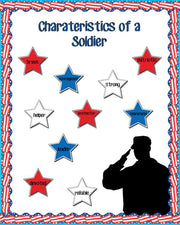 The Characteristics of a Soldier - Veterans Day Bulletin Board