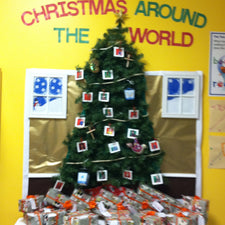 Christmas Around The World! - Christmas Tree Bulletin Board
