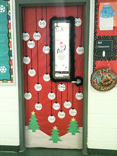 Holiday Ornaments Door Display!