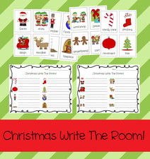 Christmas Write The Room Activity & Printable