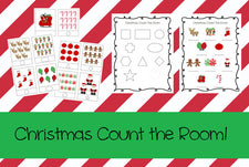 Christmas Count The Room Activity & Printable