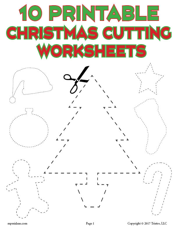 photo regarding Free Printable Christmas Cutouts referred to as 10 Printable Xmas Styles Chopping Worksheets!