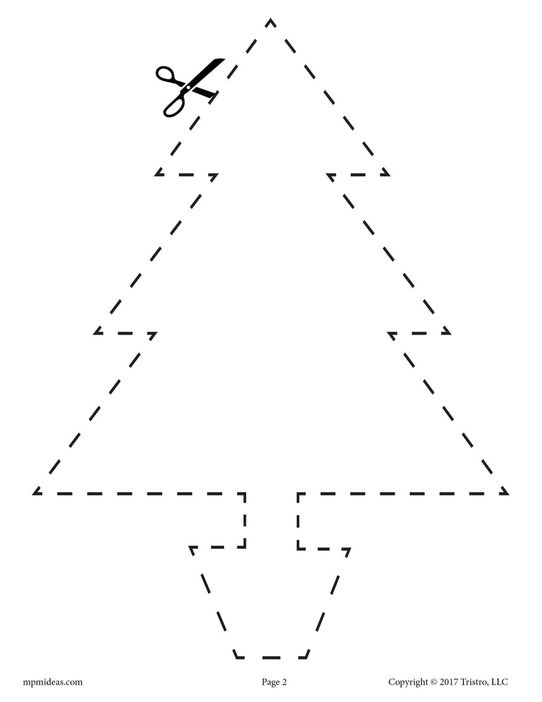 Christmas Tree Cutting Worksheet!