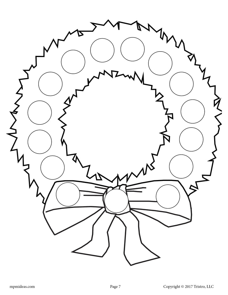 10 Christmas Do-A-Dot Printables!