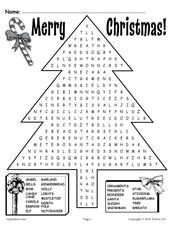 Printable Christmas Word Search!