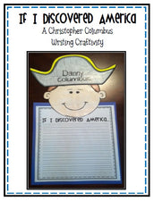 "Columbus Day - ""If I Discovered America"" Writing Craftivity"