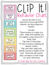 "FREE ""Super Students"" Clip It Chart Behavior Management System!"