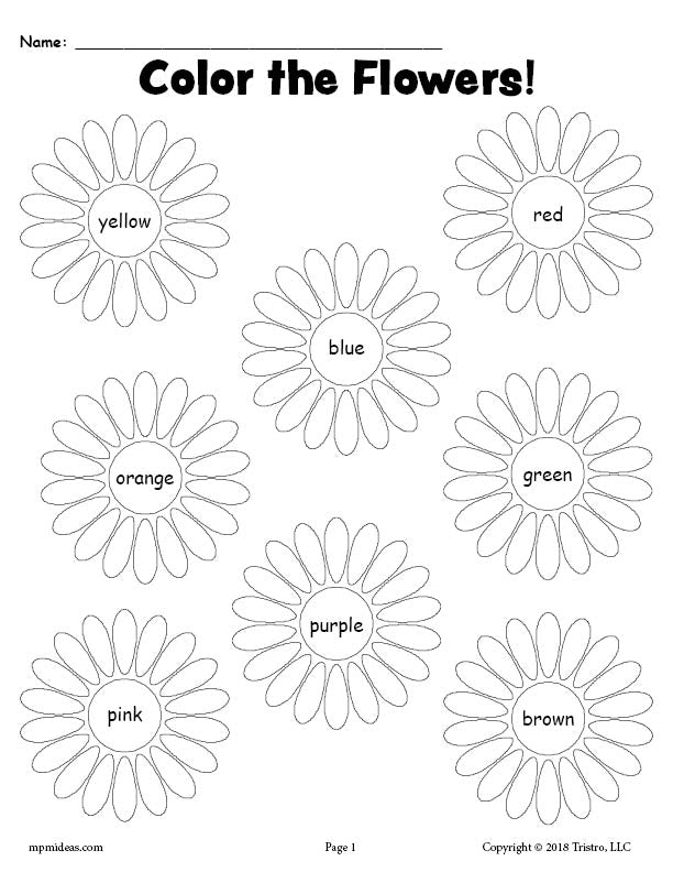 picture regarding Free Printable Flowers known as Absolutely free Printable Flower Coloration Terms Worksheet! SupplyMe