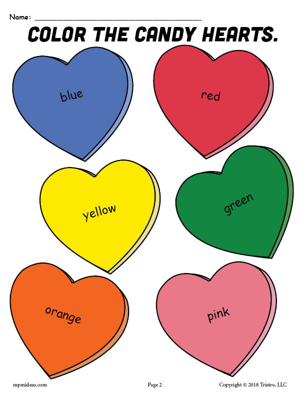 printable conversation hearts coloring pages - photo#15